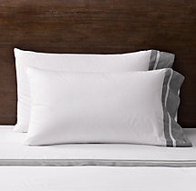 Italian Double Border Sateen Pillowcases (Set of 2)