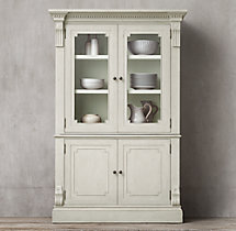 St. James Glass Double-Door Sideboard & Hutch