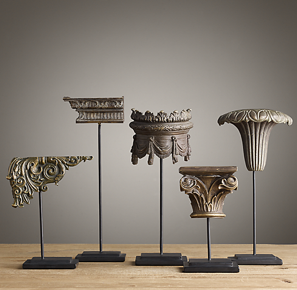 Neoclassical Architectural Ornaments Set Of 5