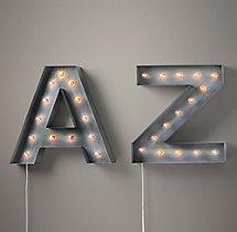 vintage illuminated marquee letters numbers