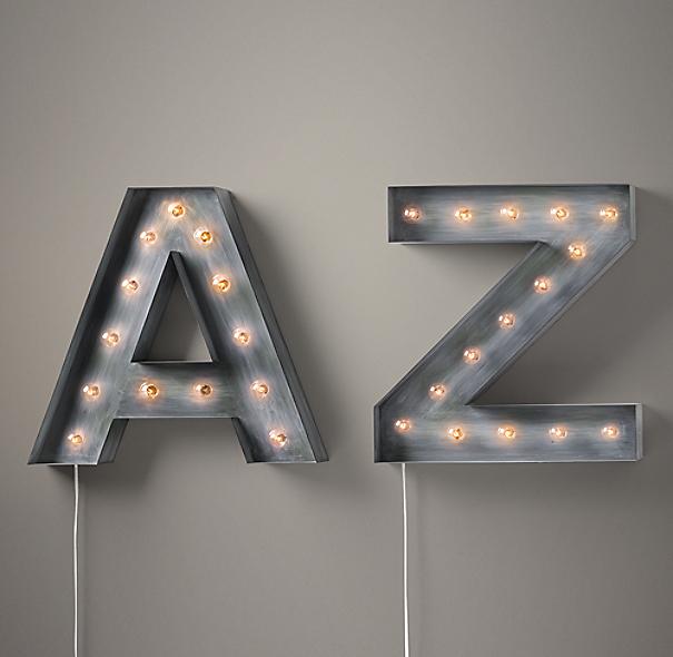 vintage illuminated marquee letters numbers With illuminated marquee letters