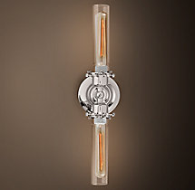 Edison Glass Inline Double Sconce