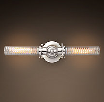Edison Perforated Metal Inline Double Sconce