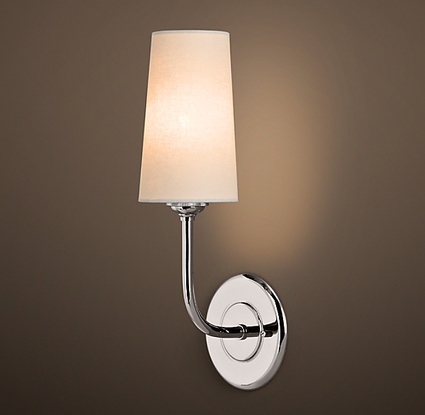 Restoration Hardware Modern Picture Light Sconce 30: Modern Taper Sconce With Linen Shade
