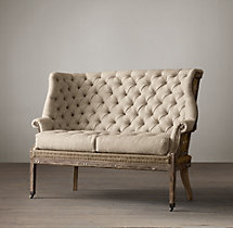 Deconstructed 19Th C. English Wing Settee
