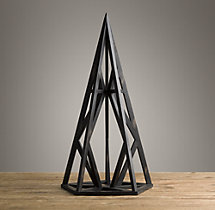Wood Polyhedron Maquette Black