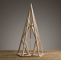 Wood Polyhedron Maquette White