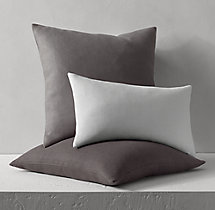 Belgian Linen Knife-Edge Pillow Cover