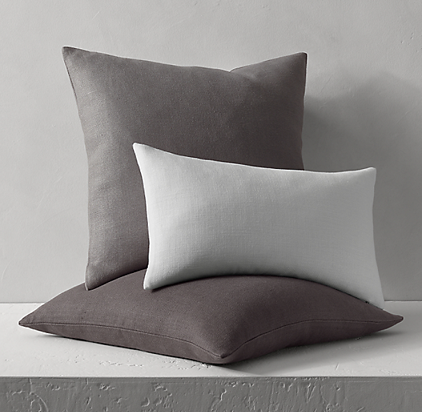 Belgian Linen Knife Edge Pillow Cover