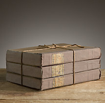 Large Tomes Taupe (Set of 3)