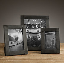 Antiqued Nailhead Tabletop Frames - Black Zinc
