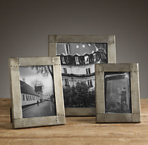 Antiqued Nailhead Tabletop Frames - Zinc