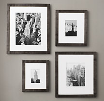 Antiqued Nailhead Gallery Frames - Black Zinc