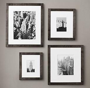 antiqued nailhead gallery frames black zinc