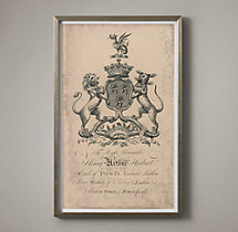 18th C. English Armorial Engraving - 01