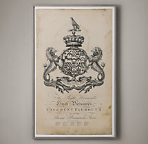 18th C. English Armorial Large Engraving - 2