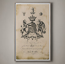 18th C. English Armorial Large Engraving - 3