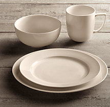 Chinese Porcelain Grand-Rimmed 16-Piece Dinnerware Set with Cereal Bowl