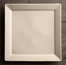 Chinese Porcelain Square-Rimmed Grand Dinner Plate (Set of 4)
