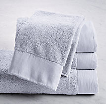 Linen-Bordered Turkish Cotton Towel - Hand Towel - Shore