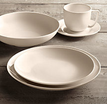 Chinese Porcelain Classic Coupe 20-Piece Dinnerware Set with Classic Coupe Soup Bowl