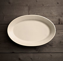 Stoneware Grand-Rimmed Medium Oval Platter