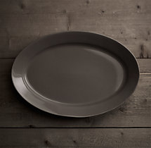 Stoneware Grand-Rimmed Large Oval Platter