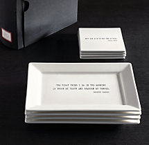 Literary Quote Cocktail Plates, Dorothy Parker