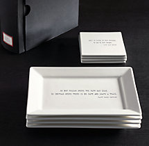 Literary Quote Cocktail Plates, Ralph Waldo Emerson