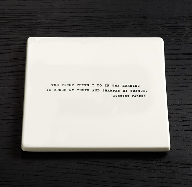 Literary Quote Coasters Dorothy Parker