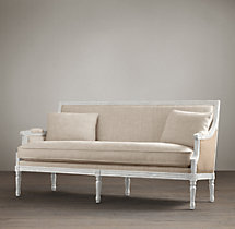 Auguste Salon Bench with Burlap