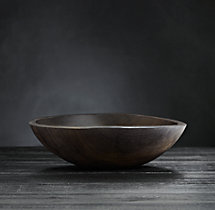 "Reclaimed Ebonized Cherry Wood 11"" Bowl"