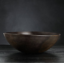 "Reclaimed Ebonized Cherry Wood 15"" Bowl"