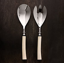 Natural White Bone 2-Piece Serving Set