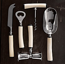 Natural White Bone 5-Piece Bar Tool Set