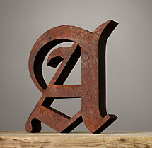Handcrafted Gothic Letters - A