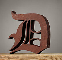 Handcrafted Gothic Letters - D