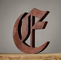 Handcrafted Gothic Letters - E