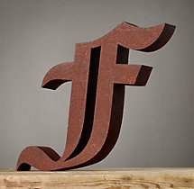 Handcrafted Gothic Letters - F