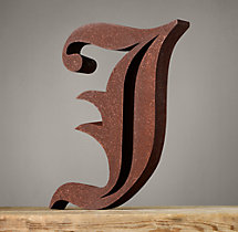 Handcrafted Gothic Letters - J