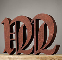 Handcrafted Gothic Letters - M