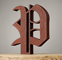Handcrafted Gothic Letters - P