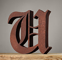 Handcrafted Gothic Letters - U