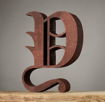 Handcrafted Gothic Letters - Y