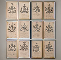 18th C. English Armorial Engravings