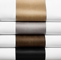 Italian Banded Sateen Bedding Swatch