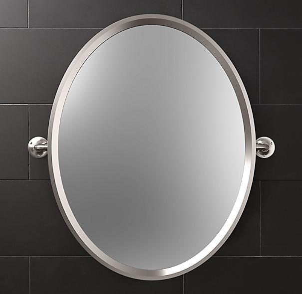 CRL Brushed Nickel 14 x 22 PivotNView Mirror  amazoncom