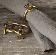 Vintage Number Napkin Rings (Set of 8)