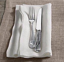 European Sheer Linen Dinner Napkins (Set of 4)