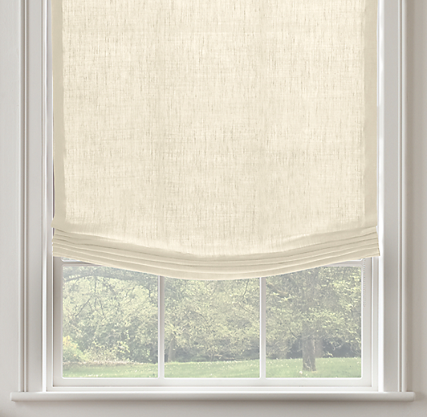 Belgian Opaque Linen Relaxed Roman ShadeSelect Colors On Sale